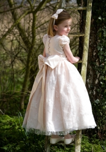 Chloe by Nicki MacFarlane Flower Girls from Lori G Derby dresses