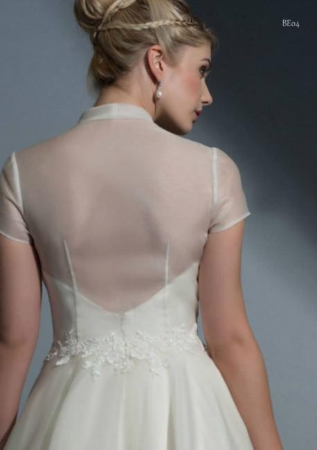 Ottiline back with coat wedding dress from Lori G Derby