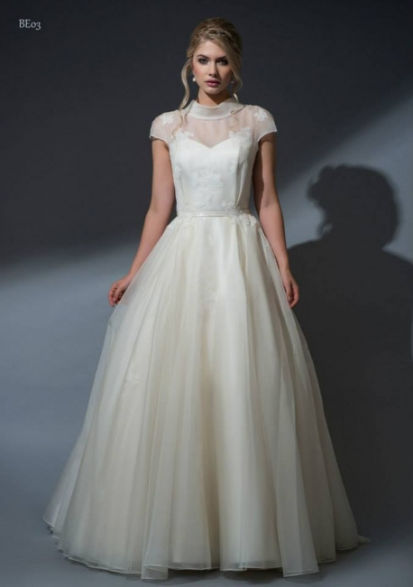 front of Aurinda By Louise Bentley wedding dress from Lori G Derby