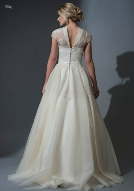 Aurinda is a gorgeous silk organza wedding dress from Lori G Derby