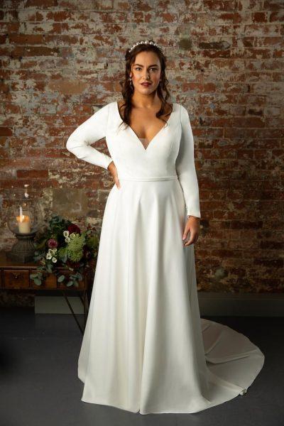 true curve ines wedding dress lori g derby