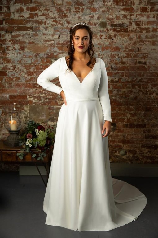 true curve ines wedding dress lori g derby